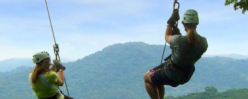 Zip line adventure in Costa Rica